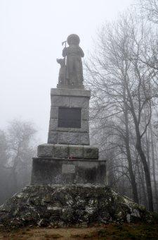 Pomník J. S. Koziny na Hrádku u Újezda