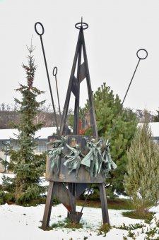 Pomník popravených za 2. sv. války na střelnici v Plzni-Lobzích