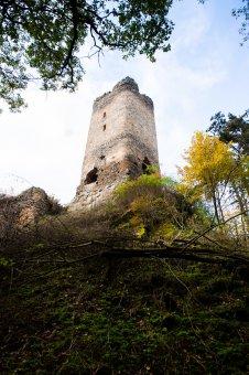 Zřícenina hradu Libštejn u Liblína