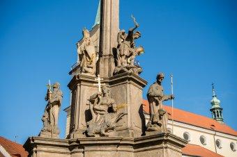 Sochy sv. Václava a sv. Jana Nepomuckého v Rokycanech