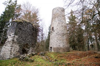 Zřícenina hradu Volfštejn u Třebele